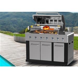 Master Forge Modular 5-Burner (60,000 BTU) Liquid Propane Gas Grill with Rotisserie Burner