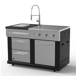 Master Forge Modular Sink with (36,000 BTU) Side Burners