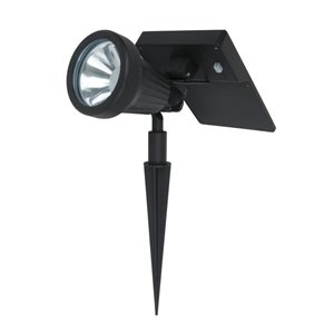 Fusion 50X Brighter (60 Lumens) Black Solar Led Spot Light