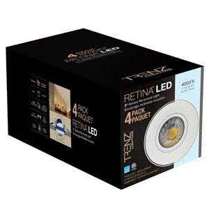 Trenz Lighting Tl3 7 5 Watt Equivalent White Led Recessed Retrofit Downlight 4 Pack Lowe S