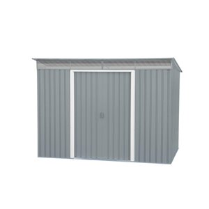 DuraMax Building Products 8-ft x 6-ft Pent Roof Galvanized Steel Shed