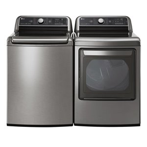 LG 6.0 cu ft High-Efficiency Top-Load Steam Washer (Graphite Steel) ENERGY STAR