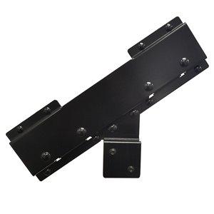 Black Painted Steel Stair Riser Connector Bracket