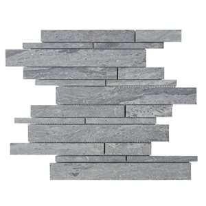 Bestview Wooden Blue/Honed Linear Mosaic Wood Look Natural Stone Marble Floor and Wall Tile (Common: 12-in x 12-in; Actual: 12.4-in x 12-in)