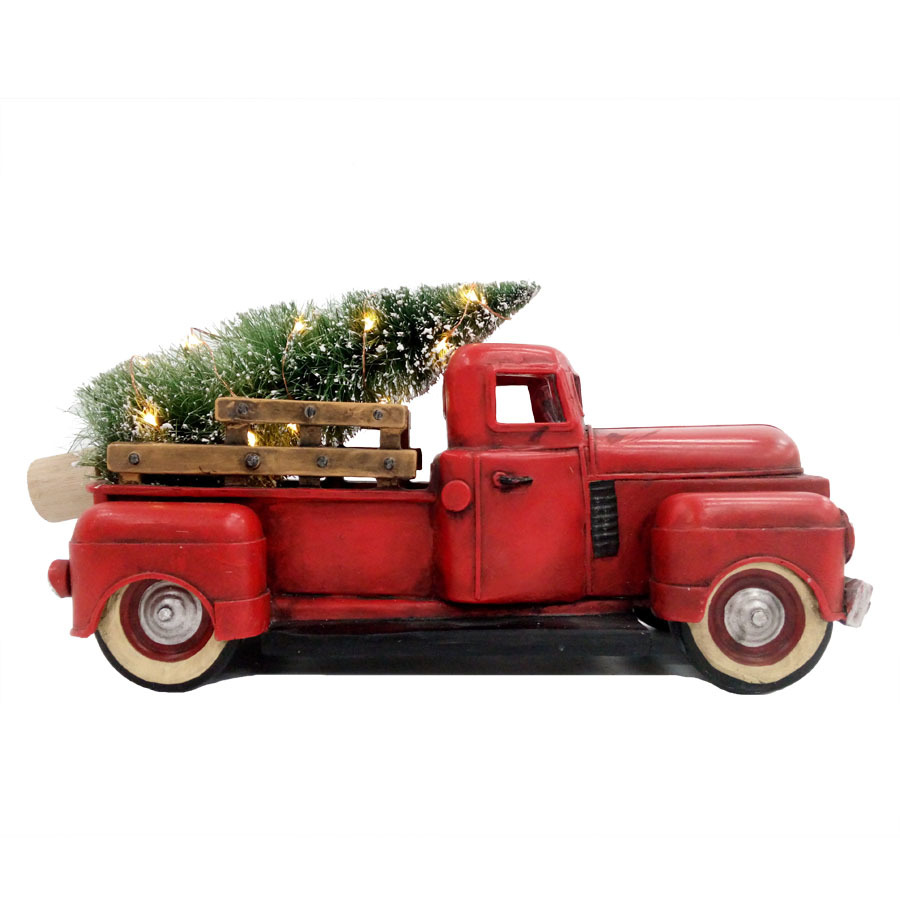 Allen Roth Lighted Red Truck Tabletop Decoration Lowe S Canada