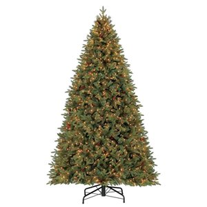 Holiday Living 9-ft Hayden Pine Incandescent Artificial Christmas Tree