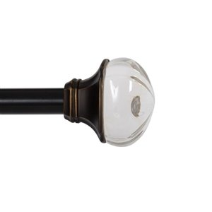 Kenney 36-in to 66-in Oil Rubbed Bronze Single Curtain Rod
