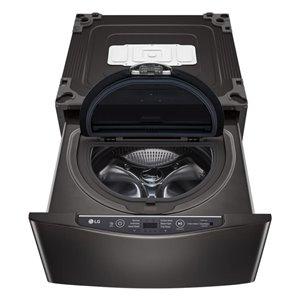 LG 27-in 1.1 Cu Ft High-Efficiency Pedestal Washer (Black Stainless Steel)