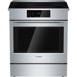Bosch 30-in 4.6 cu ft Slide In Induction Range with Self-cleaning Convection Oven (Stainless Steel) ENERGY STAR