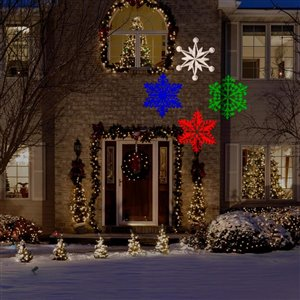 Gemmy Snowflakes LED Multi-Colour Light Projector