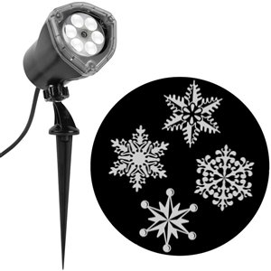 Gemmy Snowflakes LED White Light Projector