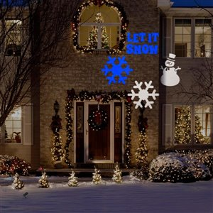 Gemmy Snowman LED Blue and White Light Projector
