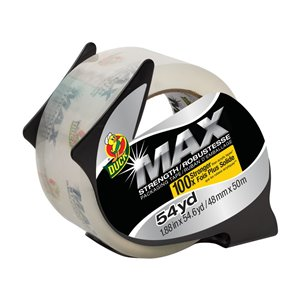Duck Max 1.88-in x 163.8-ft Clear Packing Tape
