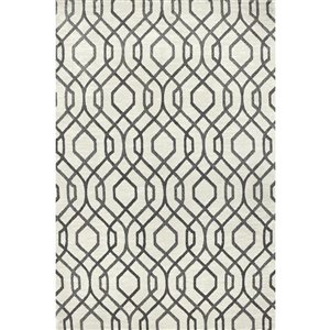 Carpet Art Deco Celestial Ivory, Cut Pile Construction Textured Indoor Carpet