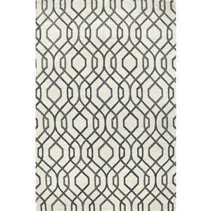 Carpet Art Deco Celestial Ivory, Cut Pile Construction Textured Indoor Carpet