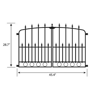 No Dig Empire 2.5-ft x 4-ft Powder-Coated Steel Decorative Fence Gate