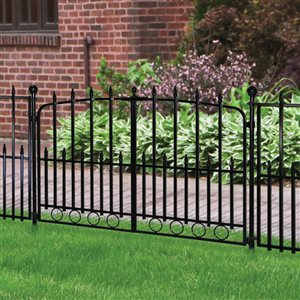Empire 2 5 Ft X 4 Ft Powder Coated Steel Decorative Fence