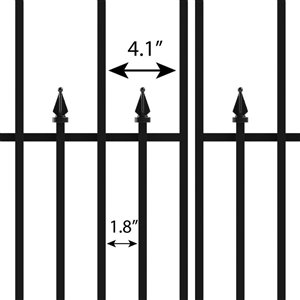 No Dig Grand Empire 2-ft x 3-ft Powder-Coated Steel Decorative Fence Gate