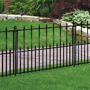 No Dig 2.41-ft x 3.14-ft Empire Powder-Coated Steel Fence Base Unit