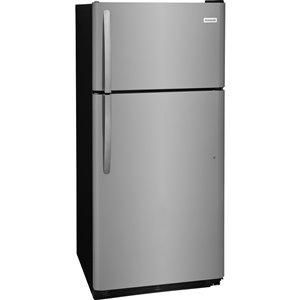 Frigidaire 18-cu ft Top-Freezer Refrigerator (Fingerprint-Resistant EasyCare Stainless Steel)