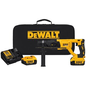 DEWALT XR 20-Volt Max 1-in SDS-Plus Cordless Rotary Hammer (2-Batteries Included and Charger Included)