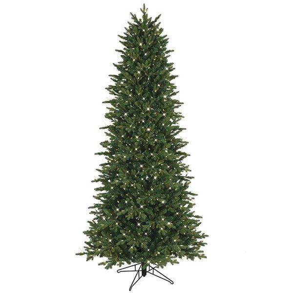 GE 7.5-ft Aspen Fir Slim Incandescent Artificial Christmas Tree