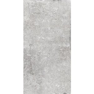 Style Selections 16-in x 32-in Chatham Grey Porcelain Floor and Wall Tile