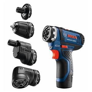 Bosch Flexiclick 12-Volt 1/4-in Variable Speed Cordless Drill (2 -Batteries Included and Charger Included)