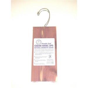 CedarAmerica 2- Piece Cedar Hanger 8-oz Organic Moth Prevention