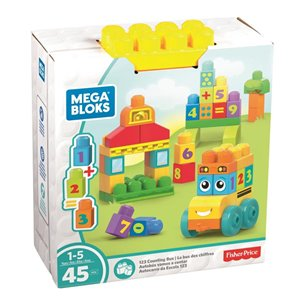 "Mega Bloks 45 Piece ""1-2-3"" Counting Bus"