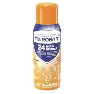 Microban Microban 24 Hour Disinfectant Sanitizing Spray, Citrus Scent, 354 Grams