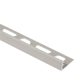 Schluter Systems Jolly Edge Trim 1/2-in Alum Greige