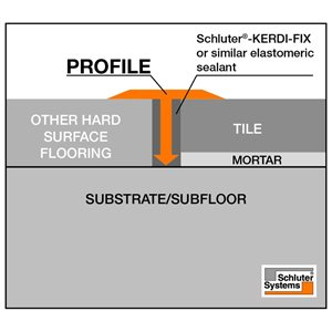 Schluter Systems Reno-T 0.344-in W x 98.5-in L Aluminum Commercial/Residential Tile Edge Trim