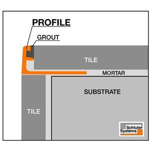 Schluter Systems Jolly Trim 3/8-in Alum Stone Grey