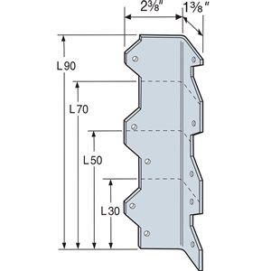 "Simpson Strong-Tie 5"" L-Angle, Z-MAX"