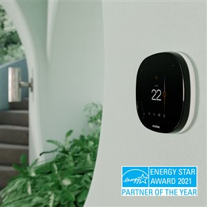 ecobee SmartThermostat with Voice Control Black Smart Thermostat (Wi-Fi Compatible)