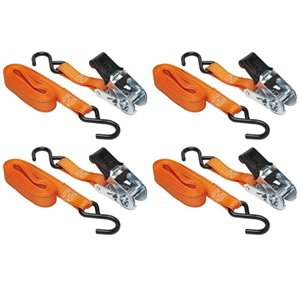 Keeper 1-in x 14-ft Ratchet Tie-Down (4-Pack)
