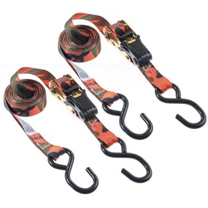 Keeper 1-in x 12-ft Ratchet Tie-Down (2-Pack)