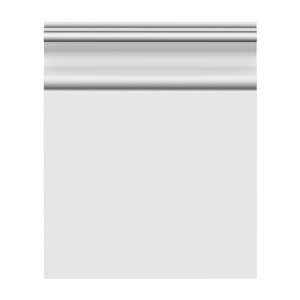 1/2 x 7-1/4 x 12-ft Colonial Primed MDF Baseboard Moulding