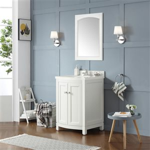 OVE Decors Royal York White Vanity with Top 24-in