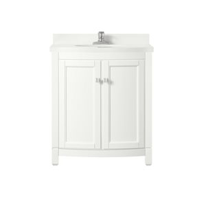 OVE Decors Royal York White Vanity with Top 30-in