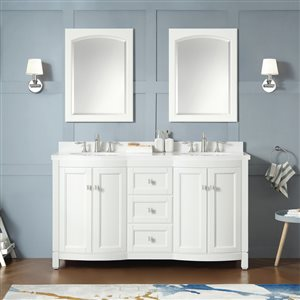 OVE Decors Royal York White Vanity with Top 60-in