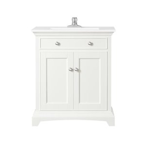 OVE Decors Chandler White Vanity with Top 30-in