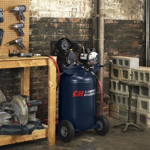 Campbell Hausfeld 30-Gallon Two Stage Portable Electric Vertical Air Compressor