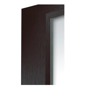 Columbia Frame 17x21-in Slantwise Perfection Mirror Black Brushed