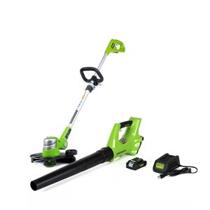 Greenworks Greenworks 24 Volt String Trimmer and Axial Blower Combo Kit