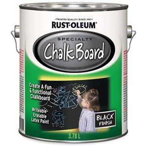 Chalkboard Brush-On Paint 3.78 L Black