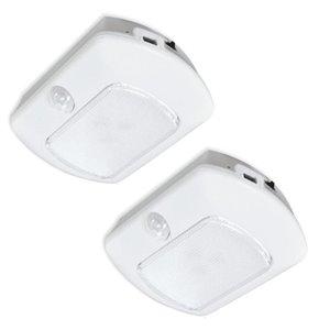 Good Earth Lighting Rechargeable USB LED Lighting 2-Pack 3.8-in Battery Puck light