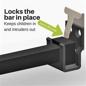 IDEAL 25.75-in to 47.5-in Aluminum Sliding Patio Door Security Bar