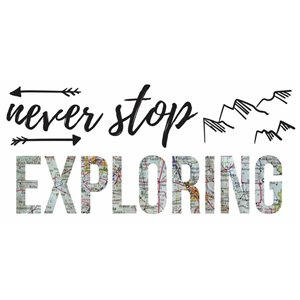 "RoomMates ""Never Stop Exploring"" Wall Decals"